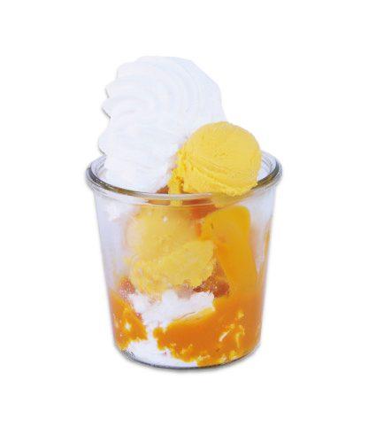 <strong>Eisbaiser Exotic</strong><br>Fruchteis, Mangopüree und Baiser